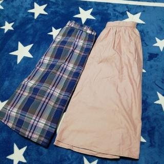 ジーユー(GU)のGU スカート 2点 ウエストゴム(ひざ丈スカート)