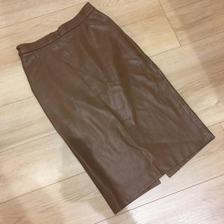 ザラ(ZARA)のZARA フェイクレザータイトスカート ♡♡(ひざ丈スカート)