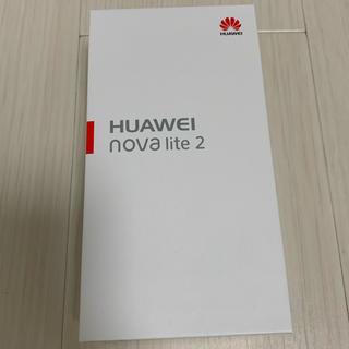 HUAWEI nova lite2 32GB ブルー 新品未開封(スマートフォン本体)
