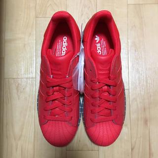 アディダス(adidas)の26cm 新品 未使用 adidas superstar SS CLR RED(スニーカー)