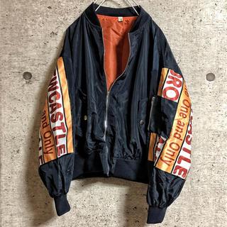 ♥️早い者勝ち♥️ma1 紺 袖オレンジ(ミリタリージャケット)
