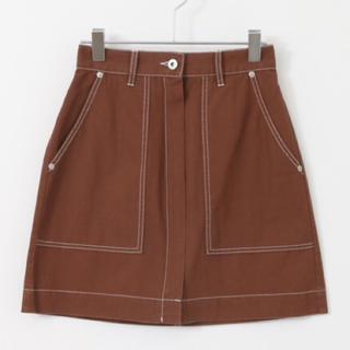 Kastane - KBF♡配色ステッチ台形スカート