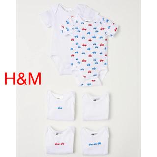 ❣️【新品】H&M、半袖、ボディスーツ、ロンパース、70、男の子
