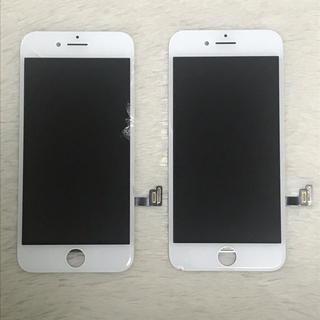 アイフォーン(iPhone)のiPhone8 割れパネル 2枚セット 純正 交換(スマートフォン本体)