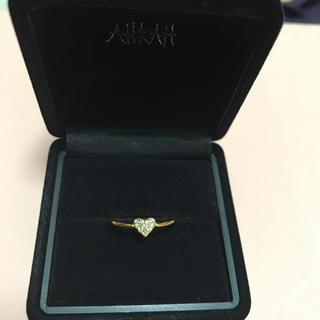 アーカー(AHKAH)のアーカー ハートパヴェリング 7号(リング(指輪))