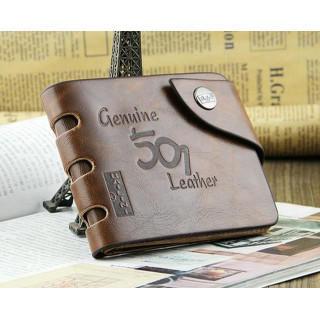 新品 メンズ ウェスタン調 レザー 二つ折り 財布 ブラウン メンズ ウォレット(折り財布)
