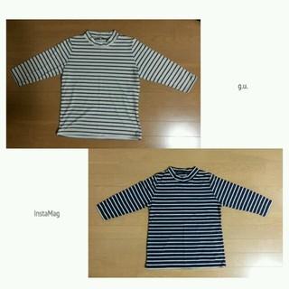 ジーユー(GU)のg.u.ミドルネックボーダーロンTセット(Tシャツ(長袖/七分))