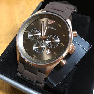 エンポリオアルマーニ(Emporio Armani)のエンポリオ アルマーニ 時計 正規品 ブラウン(腕時計(アナログ))