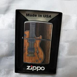 ジッポー(ZIPPO)の新品 zippo アンティークギター ライター(タバコグッズ)