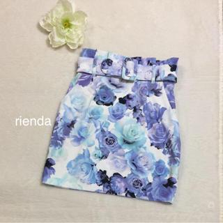 rienda - rienda激かわ薔薇柄スカート未使用品❤️おまとめ割SALE開催中
