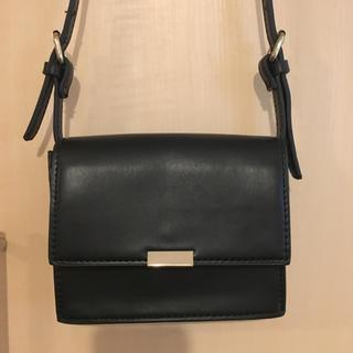 ザラ(ZARA)のミニショルダーバック ZARA ブラック 黒(ショルダーバッグ)