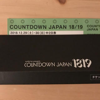 【追跡付】カウントダウンジャパン チケット 中2日(音楽フェス)
