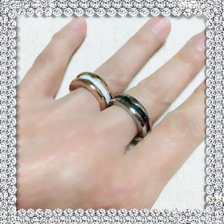 とても素敵な♡ブラックセラミックリング♡サージカルステンレス製(リング(指輪))