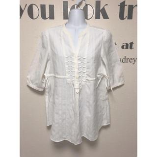 ホワイト シャツ ブラウス(シャツ/ブラウス(半袖/袖なし))