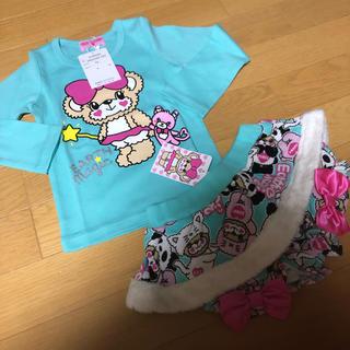 アースマジック(EARTHMAGIC)の新品 アースマジック 100cm ロンT 長袖 Tシャツ ショートパンツ ブルマ(Tシャツ/カットソー)