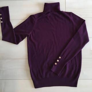 ザラ(ZARA)のZARA 紫 パープル タートル (ニット/セーター)