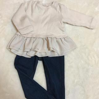 プティマイン(petit main)のpetit main フリルトップス サイズ90(Tシャツ/カットソー)