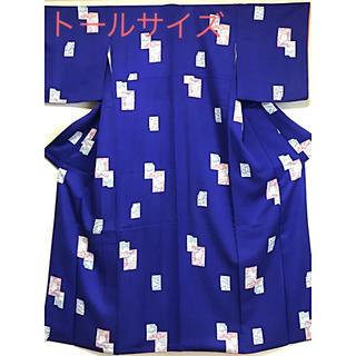正絹 袷 小紋 着物 トールサイズ