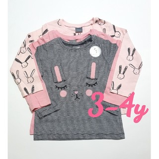 ネクスト(NEXT)の☆NEXT☆ウサギ柄長袖Tシャツ3枚セット☆3-4y(Tシャツ/カットソー)