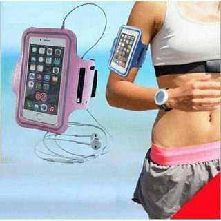 MC023 送料無料♪スポーツアームバンド ピンク iPhone7(腕時計)