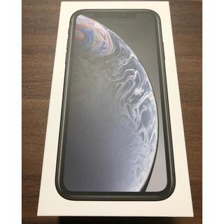 アップル(Apple)のiphoneXR 64GB ブラック【新品未使用】(スマートフォン本体)