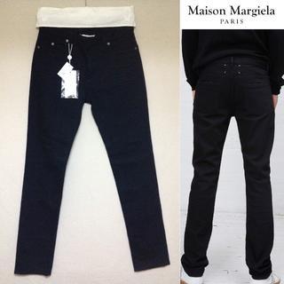 マルタンマルジェラ(Maison Martin Margiela)の新品■30■マルジェラ 17aw■ブラックデニムパンツ■黒■4707(デニム/ジーンズ)