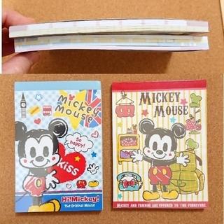 ディズニー(Disney)の在庫処分! ディズニー A6サイズ メモ帳 2冊セット 【中古品】(ノート/メモ帳/ふせん)