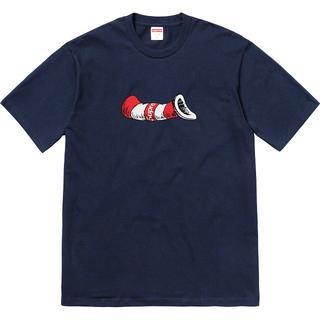 シュプリーム(Supreme)のSupreme Cat in the Hat Tee ネイビー S(Tシャツ/カットソー(半袖/袖なし))