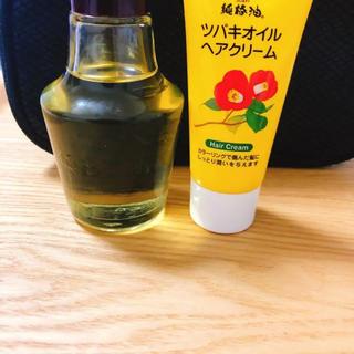 黒ばら本舗 純椿油とツバキオイルヘアクリーム  セット 椿油 ツバキオイル