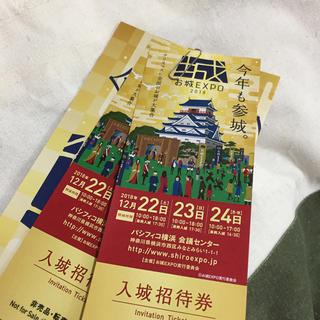 お城EXPO2018ペア入城招待券