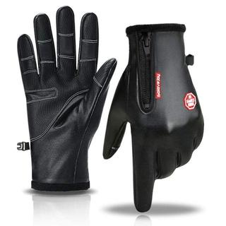 手袋 メンズ レザー 【進化版 5指スマホ対応】スポーツ バイク グローブ 防寒