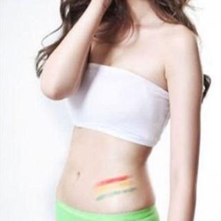 ブラカバー シンプル 胸チラ防止 白 45 送料無料