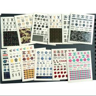 新品 ネイルシール ウォーターシール 12枚セット ロゴ
