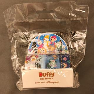 ダッフィー(ダッフィー)の香港ディズニー クリスマス マスキングテープ ダッフィー シェリーメイ(キャラクターグッズ)