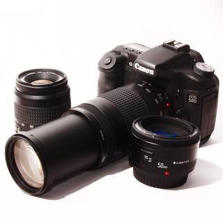 Canon 50D 標準+超望遠300mm+単焦点50mm トリプルレンズ