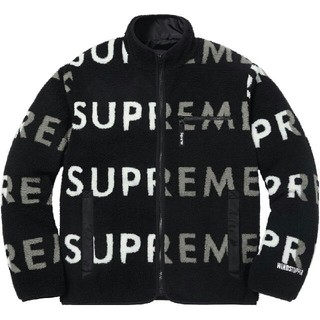 18AW Supreme fleece リバーシブル ロゴ フリース Lサイズ