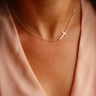 新品 クロス ゴールドネックレス プレゼント 贈り物(ネックレス)