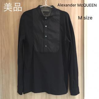アレキサンダーマックイーン(Alexander McQueen)の美品 アレキサンダーマックイーン シャツ二枚重ね風 スカル メンズ(シャツ)