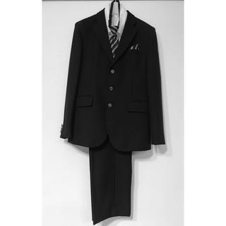 ブラックフォーマル 卒業式 男子 スーツ160 ブラック パンツアジャスター付き