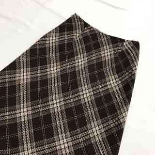 Grimoire - vintage チェック柄のレトロなロングスカート