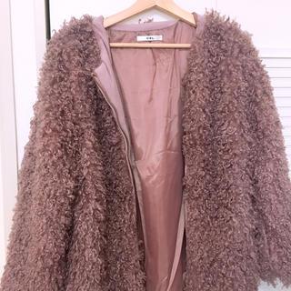 グレイル(GRL)のピンクモコモコジャケット(ジャケット/上着)