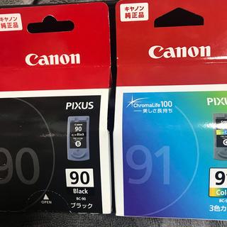 キヤノン(Canon)のCanon キャノン 純正インク未開封 インクカートリッジ 90 91(OA機器)