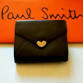ポールスミス  財布 ラブレター カードケース 小銭入れ 黒 ブラック ハート
