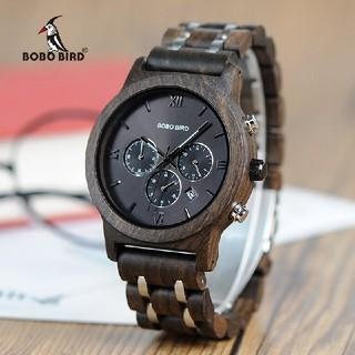 ブラック ボボバード 腕時計 速達レターパック ♪(腕時計(デジタル))