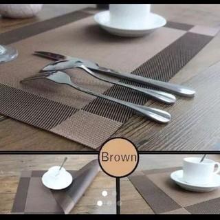 ランチョンマット ブラウン 4枚セット(テーブル用品)