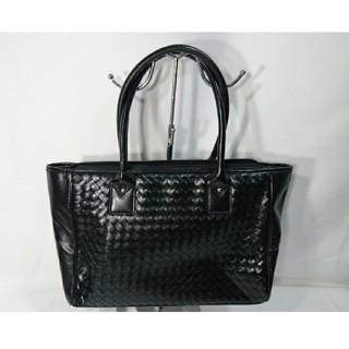 エンリココベリ(ENRICO COVERI)の極美品未使用エンリココベリ本革ショルダーバッグ鞄黒レディースメンズビジネス仕事(ショルダーバッグ)
