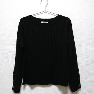 シマムラ(しまむら)の【しまむら】黒ラメニット Mサイズ 美品(ニット/セーター)
