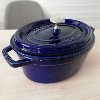 ストウブ(STAUB)のstaub オーバル ピコ ココット 23cm ホーロー鍋 ダークブルー(鍋/フライパン)