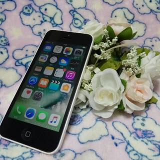 アイフォーン(iPhone)のiPhone5c ホワイト DoCoMo(スマートフォン本体)