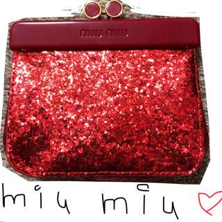ミュウミュウ(miumiu)の新品未使用 miu miu ミニ財布(財布)